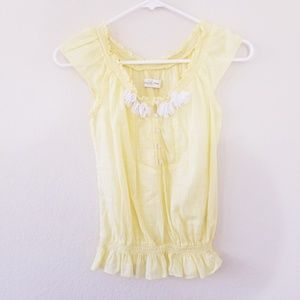 Abercrombie & Fitch Cute Light Yellow Blouse